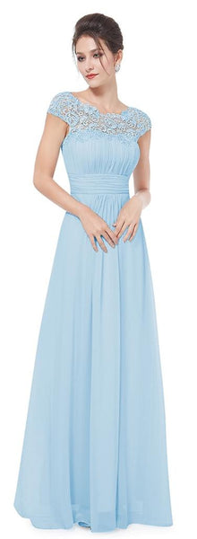 KATIE Dress - Pale Blue - Belle Boutique UK
