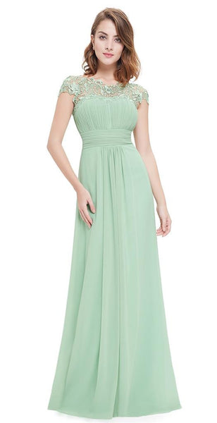 KATIE Dress - Pale Sage Green - Belle Boutique UK