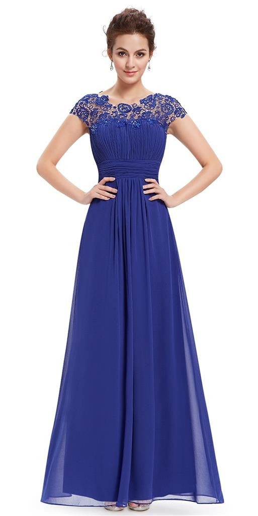 Sapphire Blue Bridesmaid Dresses With Straps