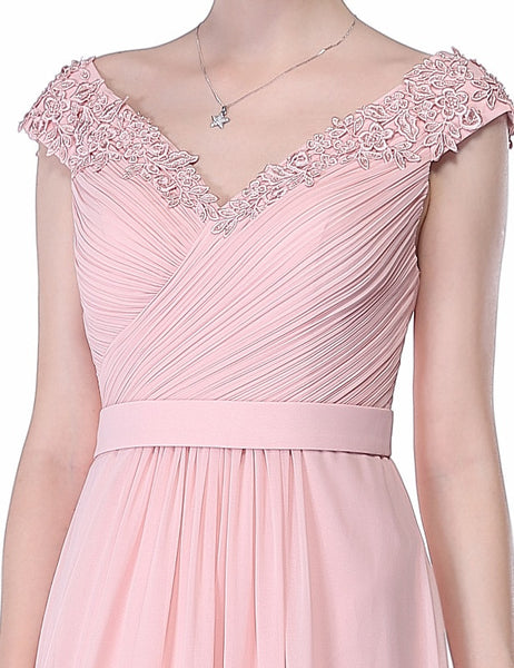 LORI Beaded Applique Dress - Pink - Belle Boutique UK