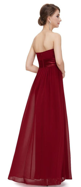 LOUISE  - Burgundy Wine - Belle Boutique UK