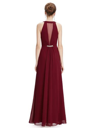 ORLA  Evening Dress - Burgundy Wine - Belle Boutique UK