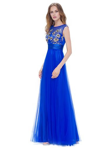 PRIYA Dress - Sapphire Blue - Belle Boutique UK