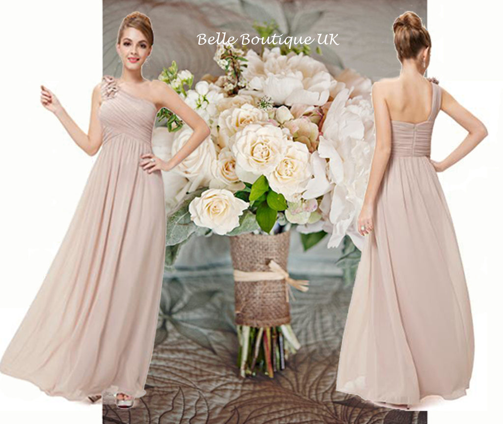 Pippa mink latte taupe beige one shouldered bridesmaid dress pippa dress mink taupe belle boutique uk ombrellifo Choice Image