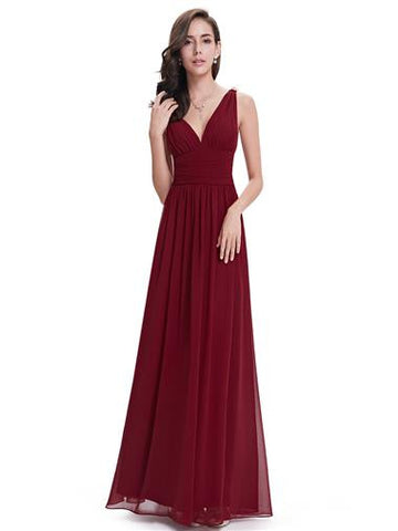 SOPHIE Dress - Burgundy Wine - Belle Boutique UK