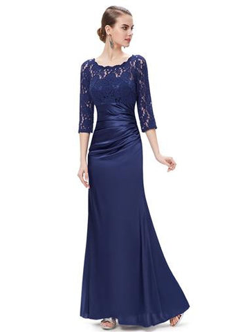 ALEXA Dress - Navy Blue - Belle Boutique UK