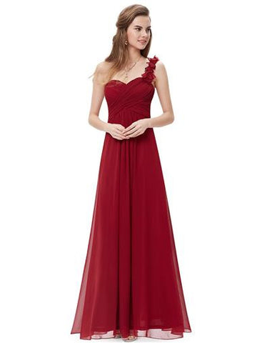 ELODIE Long Dress -  Burgundy Wine - Belle Boutique UK