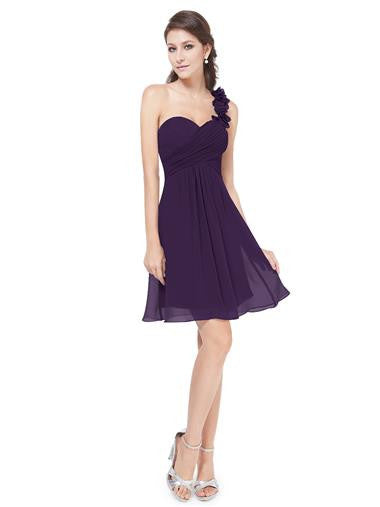 ELODIE Short Dress - Purple - Belle Boutique UK