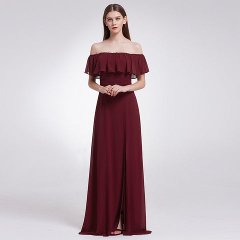 EMMA - Burgundy Wine - Belle Boutique UK