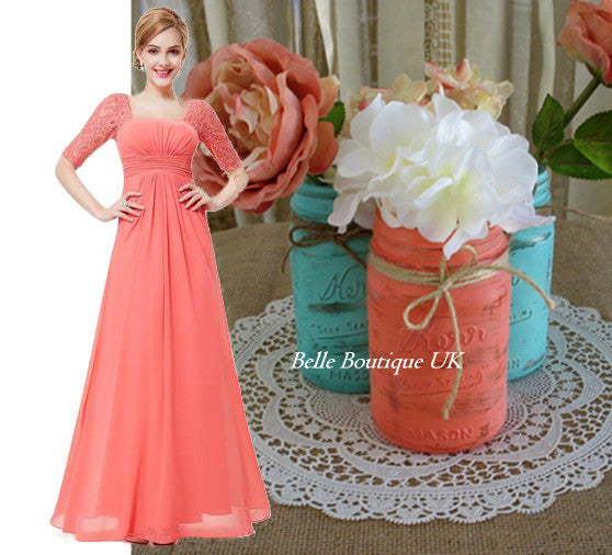 PENNY  -  Coral - Belle Boutique UK