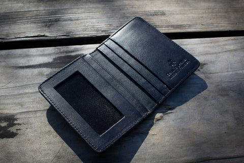 Compact Bifold Leather Wallet