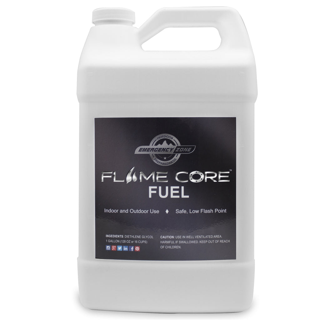 Flame Core Fuel – 1 GALLON JUG - DIETHYLENE GLYCOL LONG SHELF LIFE FUEL