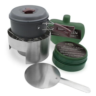 FlameCore Deluxe Refillable Fuel Cell Deluxe Cooking Set