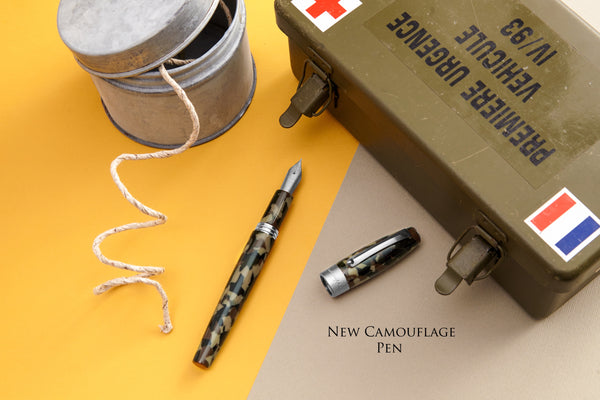 Montegrappa Camouflage Collection Including special tin box with Dog tag and Key rings.