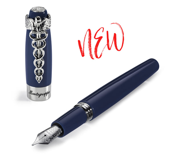 New Montegrappa Caduceus Navy Blue Available Now