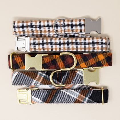 Flannel Dog Collars