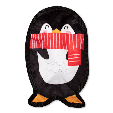 Unstuffed, Flat Penguin Dog Toy