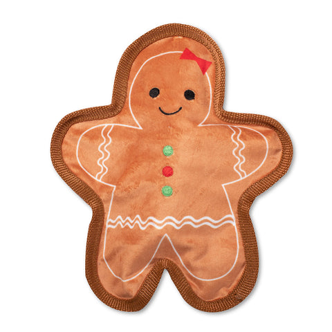 Unstuffed, Flat Gingerbread Dog Toy