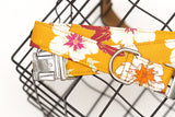 Golden Floral Dog Collar