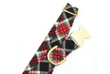 Black Classic Christmas Plaid Dog Collar
