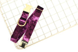 Purple Velvet Dog Collar