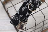 Black & White Bats Dog Collar