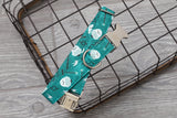 Teal Owls Dog Collar