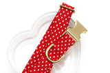 Red & White Hearts Valentines Dog Collar