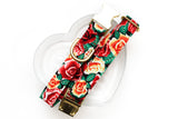 Floral Valentines Dog Collar