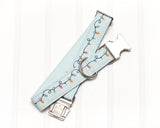 Mint Christmas Lights Dog Collar