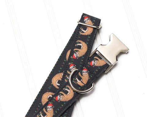 Christmas Sloths Dog Collar
