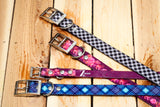 Purple Watercolor Floral Titan Dog Collar - Girl Dog Collar - Dirtproof, Stinkproof, Waterproof by Zaley Designs