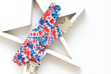 Red, White & Blue Tie Dye Dog Collar