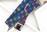 Colored Fireworks Dog Collar