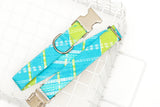 Mint & Lime Plaid Dog Collar