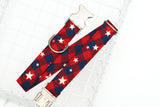 Stars Buffalo Plaid Dog Collar