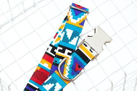 Multi-Colored Aztec Dog Collar