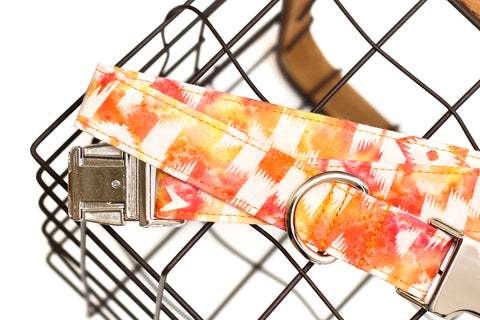 Red/Orange Aztec Dog Collar