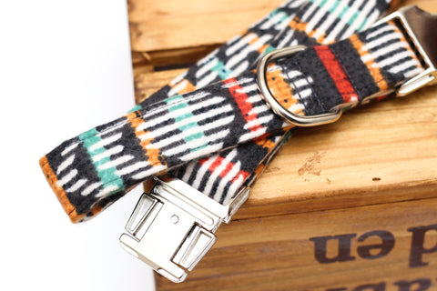 Tribal Flannel Dog Collar
