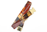 Caramel Brown Plaid Flannel Dog Collar