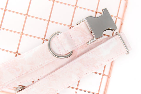 Light Pink Marble Dog Collar