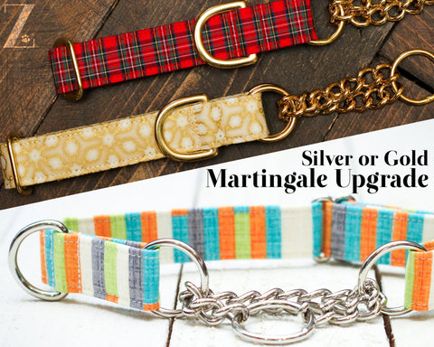 Upgrade Collar to Half Check Chain, Chain-Link Martingale