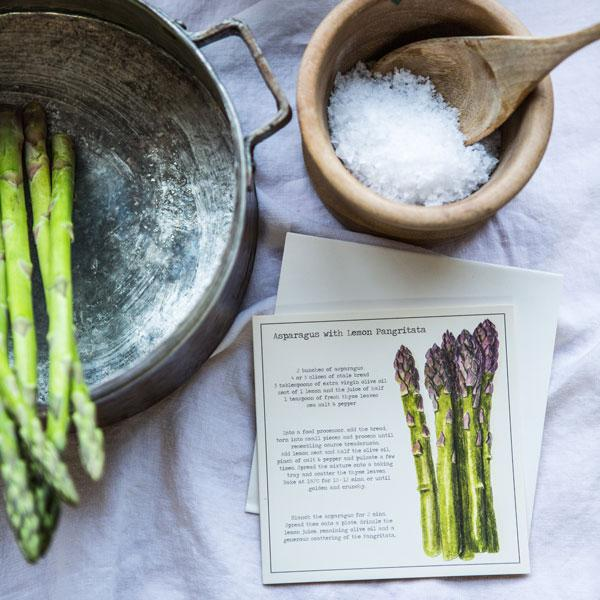 Asparagus with Lemon Pangritata Recipe Greeting card