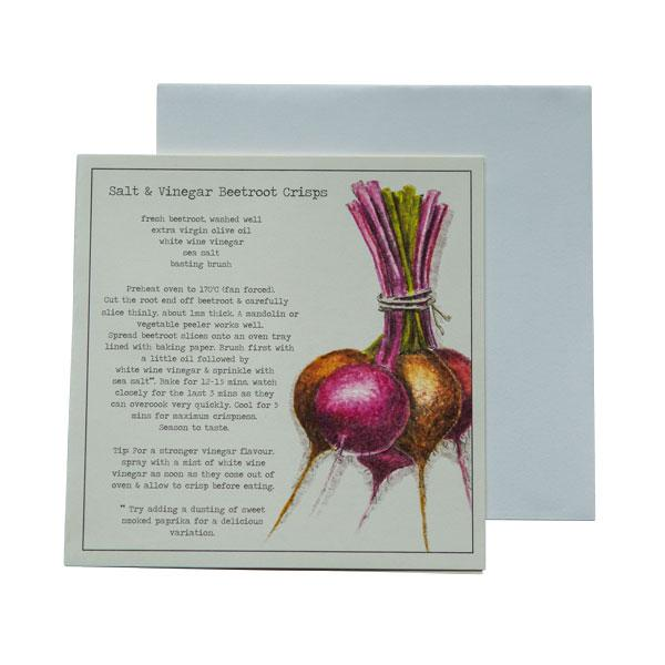 Salt & Vinegar Beetroot Crisps Recipe Greeting cards