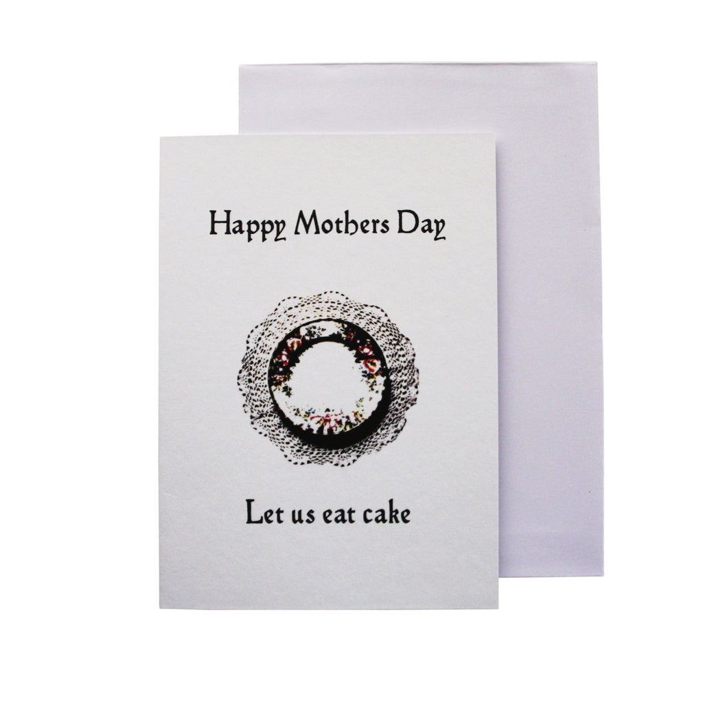 Happy Mother's Day, Let us eat cake' card