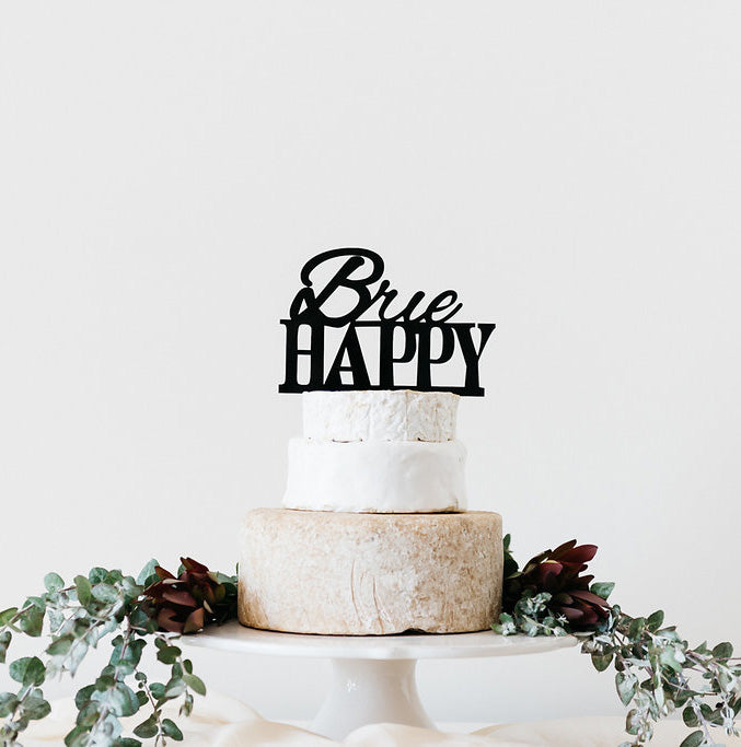 'Brie happy' cheese marker