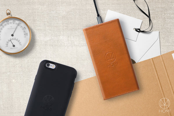 HOMI - LeatherDock ( qi wireless charger ) -  Your tech lifestyle product