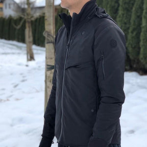 SUSTAIN Utility Heated Jacket - Pro / Lite - Black / Navy - Homicreations.com - SUSTAIN Heated Scarf, iPhone 8, iPhone 8 Plus, iPhone X qi wireless charging docks, QC 2.0 car chargers & MFI lightning cables