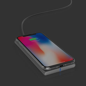 FiberDock Wireless Charger (qi) - qi certified, compatible with iPhone 8, iPhone 8 Plus & iPhone X - Homicreations.com - SUSTAIN Heated Scarf, iPhone 8, iPhone 8 Plus, iPhone X qi wireless charging docks, QC 2.0 car chargers & MFI lightning cables