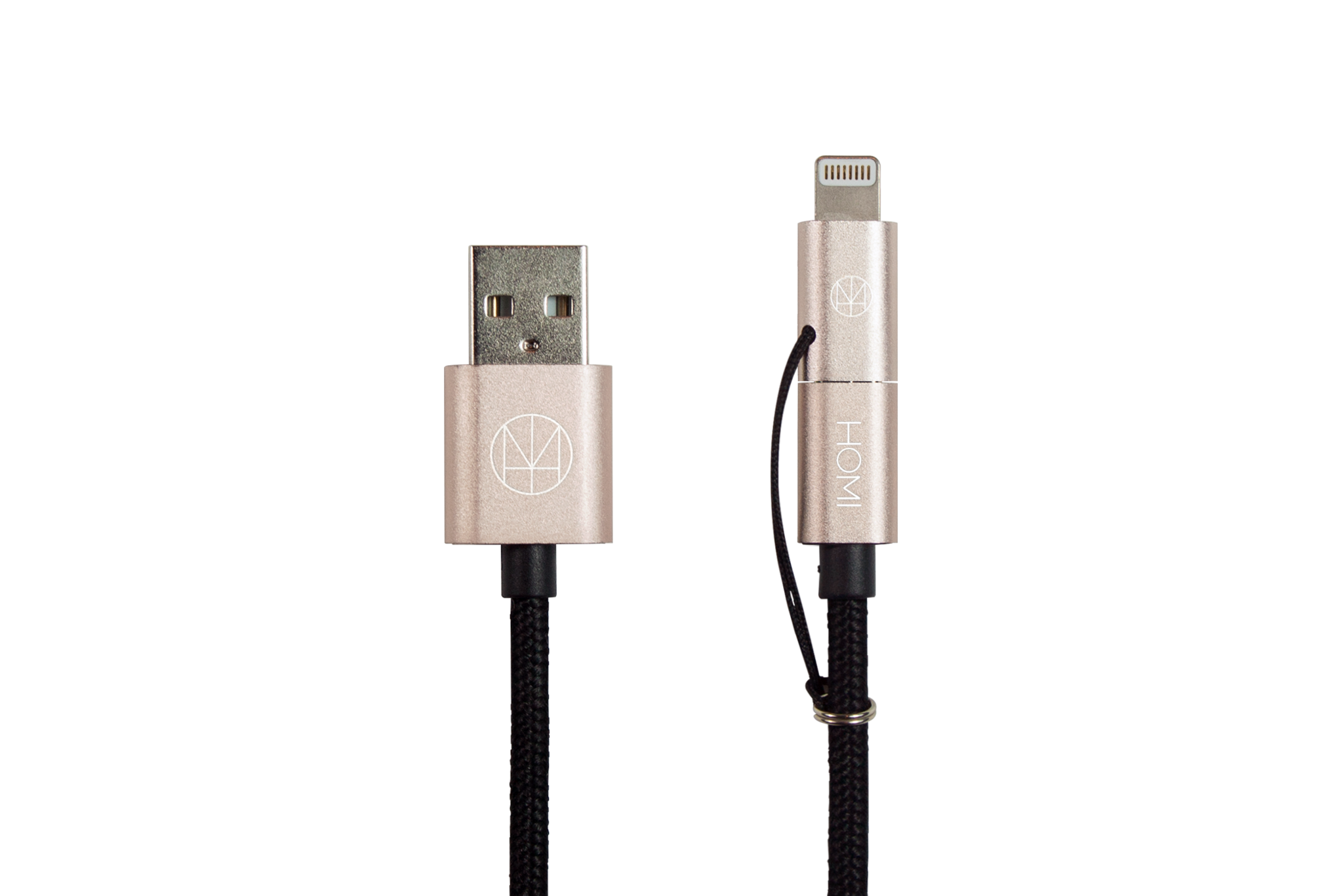 timeless design ebf17 49737 Lightning 2 Way Micro USB to USB Cable (MFI Certified) Gold